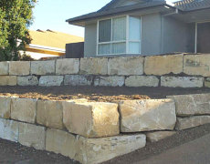 South Brisbane Sandstone A Grade Block Wall Construction