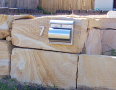 Sawn Sandstone Letterbox